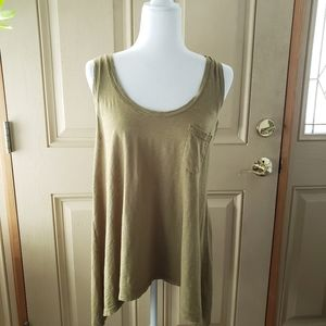 Velvet by Calypso St. Barth Olive High-low Tank